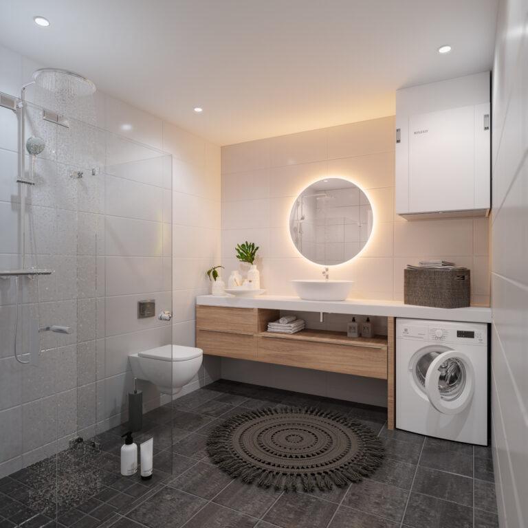 Ventilācijas rekuperācijas iekārtas izbūve dušas telpā